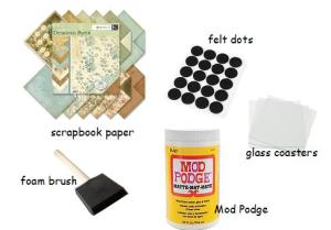 DIY coaster supplies